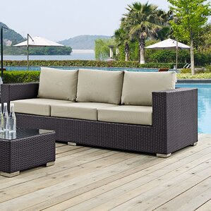wicker patio sofas & loveseats | wayfair
