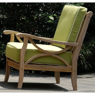 Kensington Teak Patio Chair with Cushions (Set of 2) by Cambridge Casual