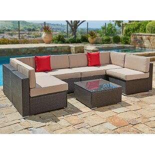 Varnell 2 Piece Sectional Seating Group with Sunbrella Cushions