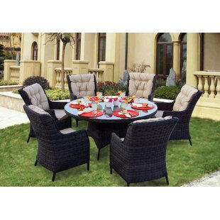 Audra 7 Piece Dining Set with Cushions