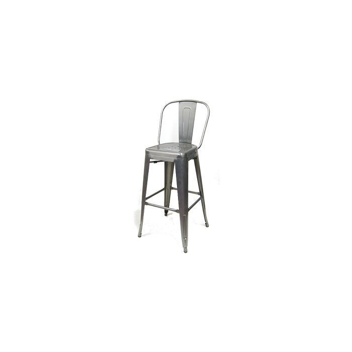 Phenomenal Crossland 30 Metal Galvanized Bar Stool Lamtechconsult Wood Chair Design Ideas Lamtechconsultcom