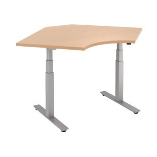 Curved Corner Height Adjustable Standing Table by Trendway Discount