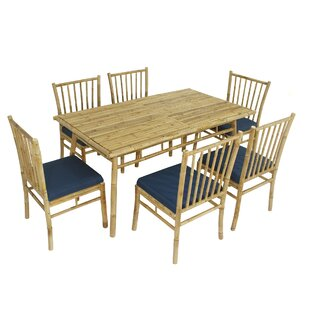 Kridia 7 Piece Dining Set with Cushions b..