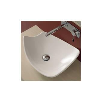 Scarabeo By Nameeks Shape Ceramic Oval Vessel Bathroom Sink With Overflow Wayfair