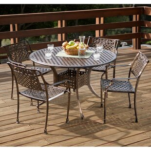 Pagedale 5 Piece Cast Aluminum Dining Set