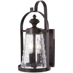 August Grove Elwell 3-Light Outdoor Wall Lantern