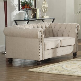 Altman Fabric Modern Living Room Loveseat