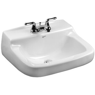 Walnut Knoll Vitreous China 21 Wall Mount Bathroom Sink with Overflow By Mansfield Plumbing Products