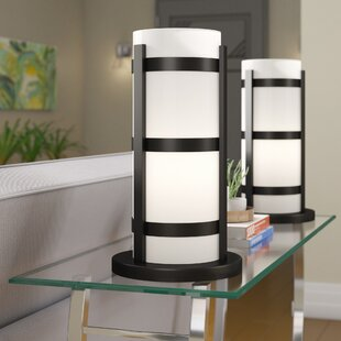 Bradly 18 Hurricane Table Lamp with Drum Shade (Set of 2)