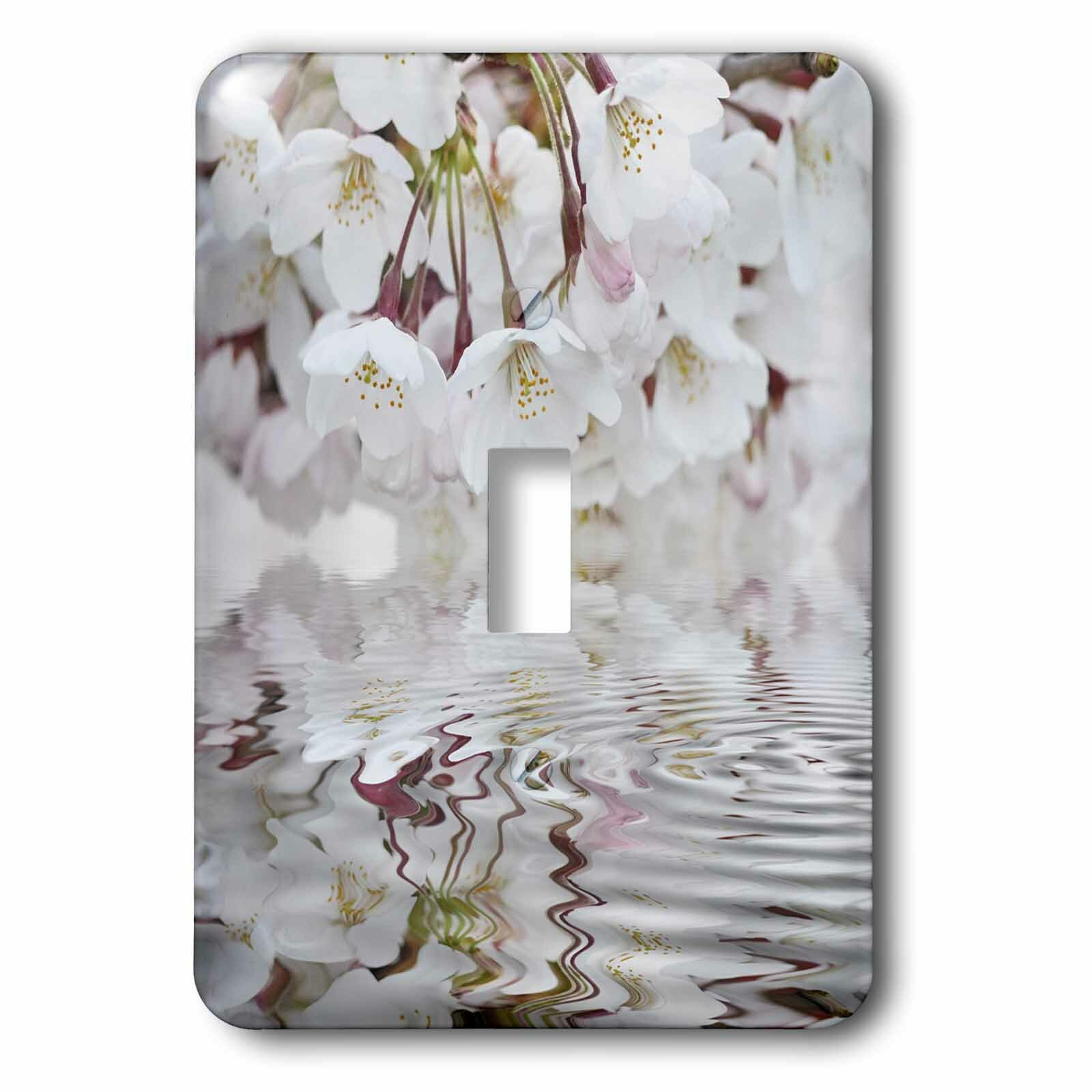 3drose Cherry Blossom And Water 1 Gang Toggle Light Switch Wall Plate Wayfair