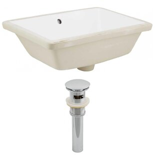 Royal Purple Bath Kitchen Ceramic Rectangular Undermount Bathroom Sink wit..