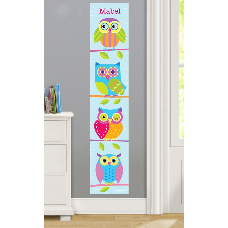 Olive Kids Owls Personalized Peel And Stick Growth Chart Wayfair