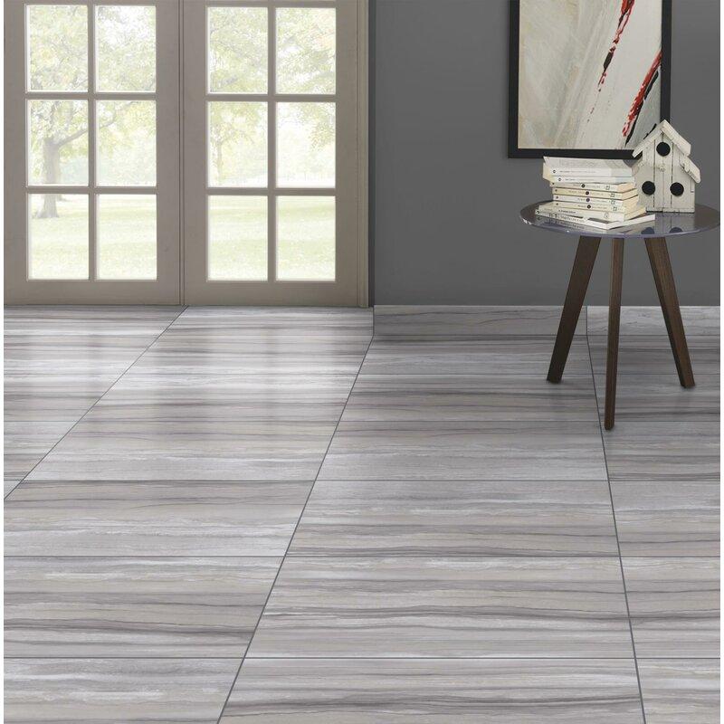 Ciudad 12 X 24 Ceramic Field Tile In Gray
