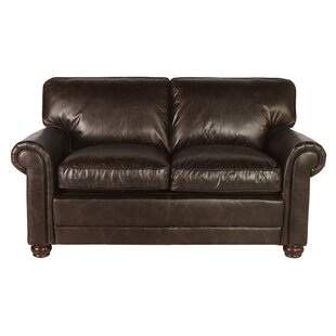 Affordable Jakey Leather Loveseat by Darby Home Co Reviews (2019) & Buyer's Guide