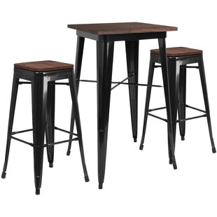 Primmer 3 Piece Pub Table Set Williston Forge