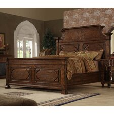 Burgundy Eastern King Panel Bed by Eastern Legends