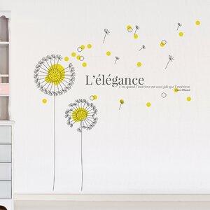 Yellow Dandelion Wall Sticker
