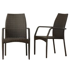 Herod Stacking Dining Arm Chair Set Of 2
