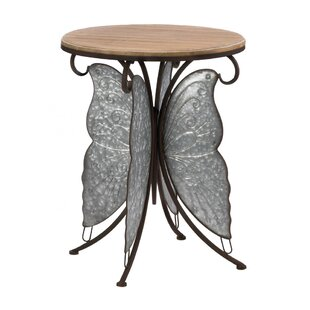 Find Amatury Rustic Butterfly End Table by August Grove