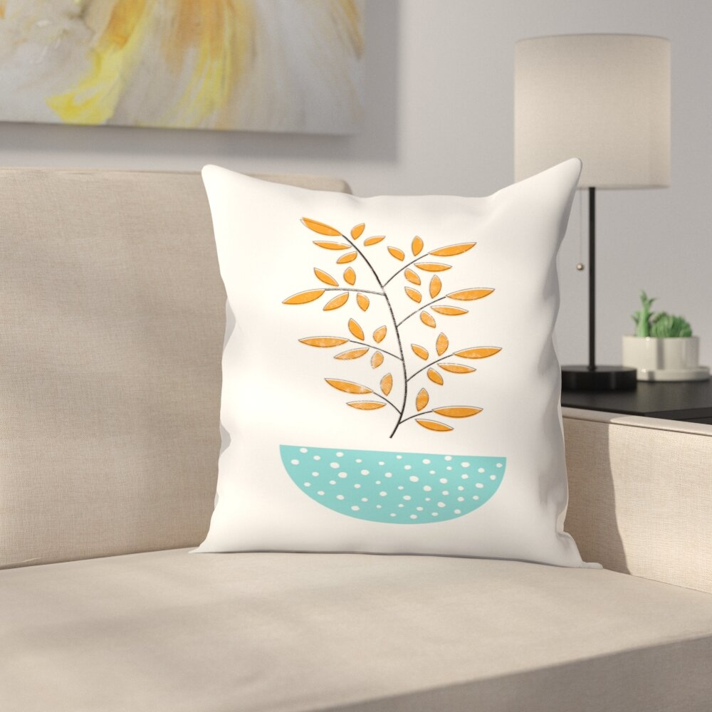 East Urban Home Mid Century Modern Throw Pillow Wayfair