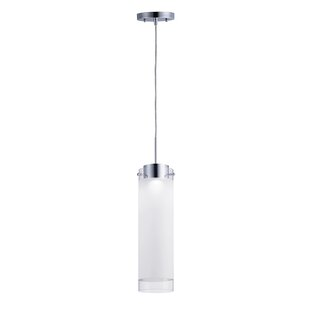 Orren Ellis Ellert 1-Light LED Cylinder Pendant