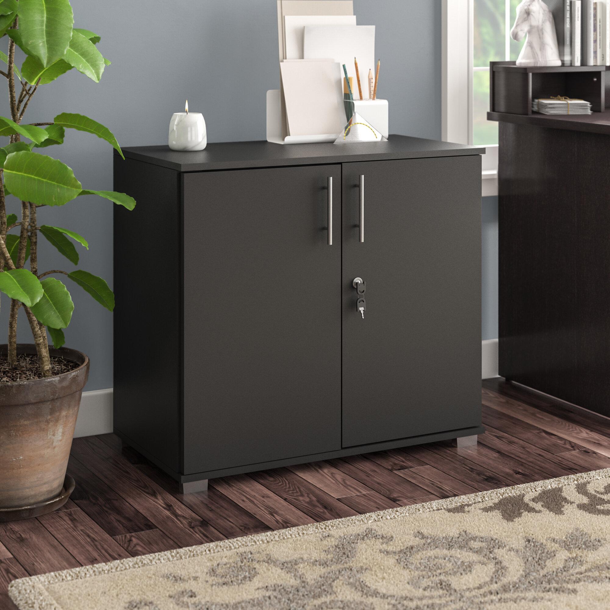 Rebrilliant Lancaster 1 - Shelf Storage Cabinet & Reviews   Wayfair