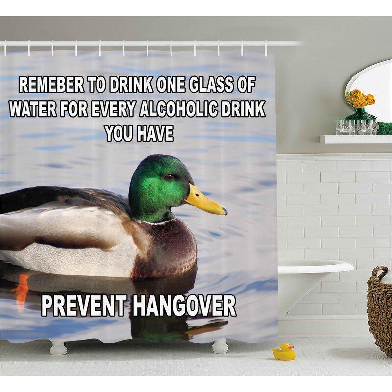Prevent Hangover Decor Shower Curtain