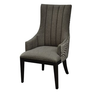 Safari Two Toned Channel Back Upholstered Dining Chair by Crestview Collection