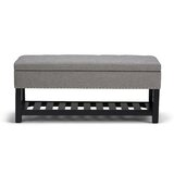 Burwell Upholstered Storage Bench by Charlton Home