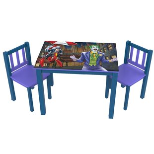 Batman Kids' 3 Piece Rectangle Table and Chair Set by O'Kids Inc.