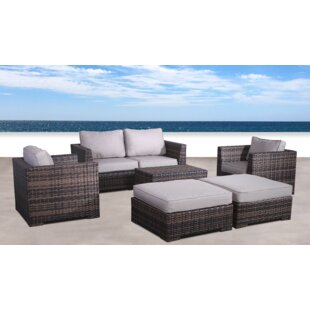 Pierson Resort 6 Piece Conversation Set with Cushions