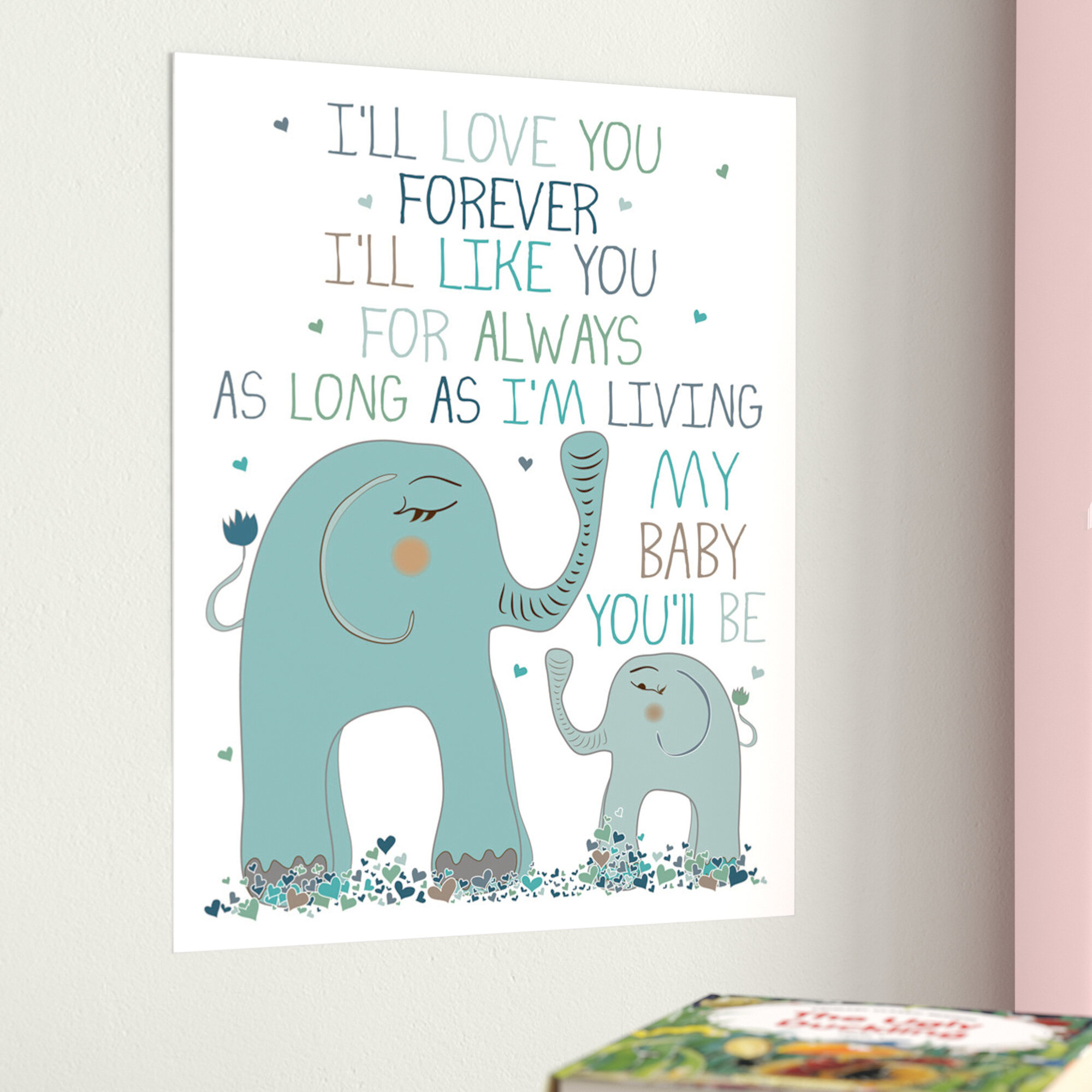 Harriet Bee Jerome I\'ll Love You Forever Elephant Family Paper Print ...