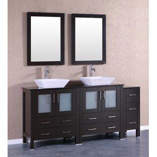 Bartone 71 Double Bathroom Vanity Set with Mirror by Bosconi