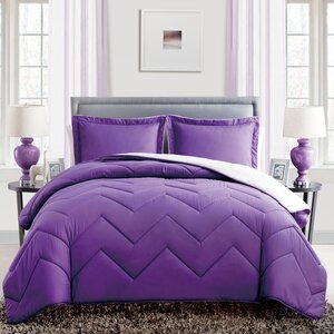 Caribbean Joe 3 Piece Queen Reversible Comforter Set