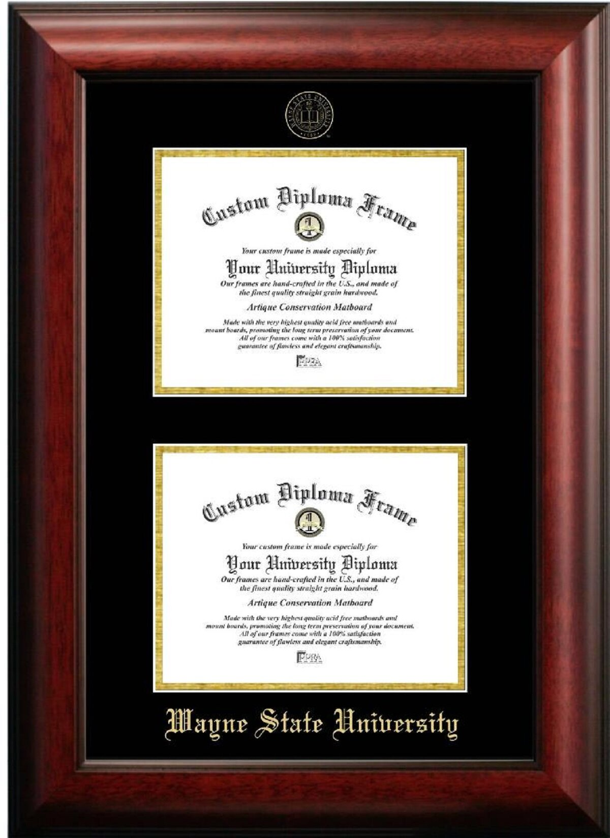 Diploma Frame Deals Wayne State University Double Degree Picture Frame Wayfair