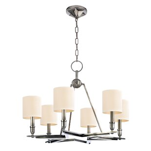 Everly Quinn Merseles 6-Light Shaded Chandelier