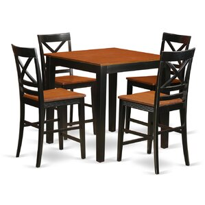 5 Piece Counter Height Pub Table Set by East Wes..