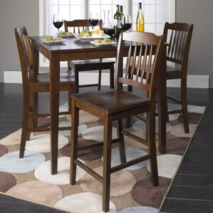 Arbouet 5 Piece Counter Height Dining Set by Red Barrel Studio