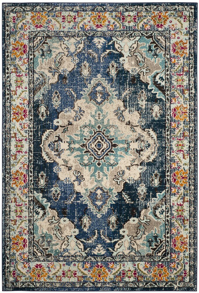 Mistana Newburyport Navy Light Blue Area Rug Amp Reviews