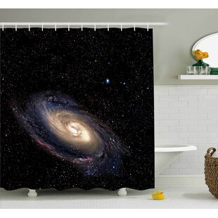 Spiral Space Universe Single Shower Curtain