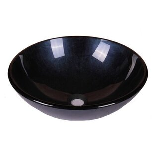 Online Reviews Foil Tempered Glass Circular Vessel Bathroom Sink ByJano Sanitary