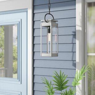 Jimena 1-Light Outdoor Hanging Lantern by Breakwater Bay