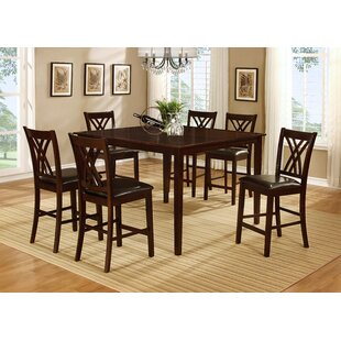 Kristen 7 Piece Dining Set by Alcott Hill