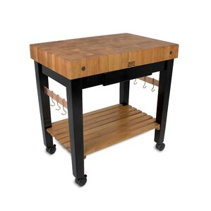 Rouge et Noir Prep Table with Butcher Block Top by John Boos Onsale