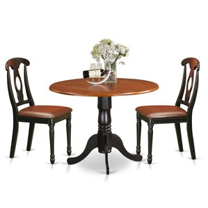 3 Piece Dining Set by East West Furniture