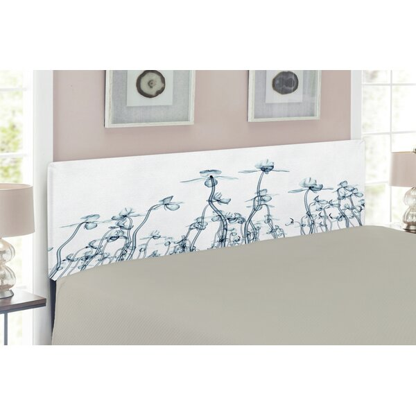 Orchids Upholstered Panel Headboard by East Urban Home