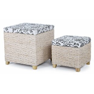 Price Check 2 Piece Storage Ottoman Set By Homebeez