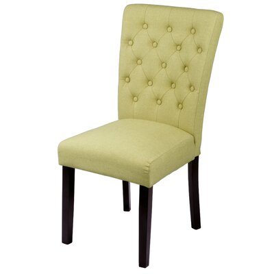 Bellatrix Side Chair Upholstery Color: Apple Green by Andover Mills