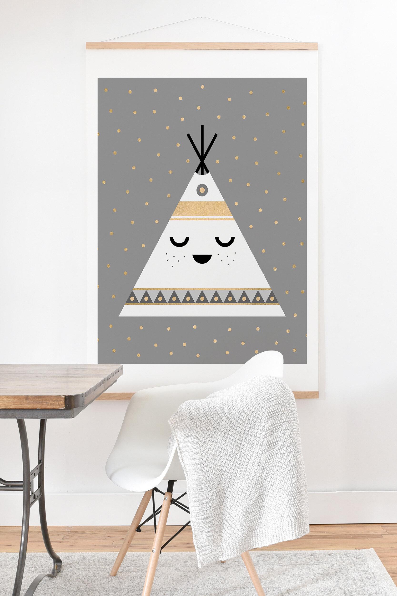 Tribal Nursery Wall Decor Prints Teepee Prints Your choice of Size Layout