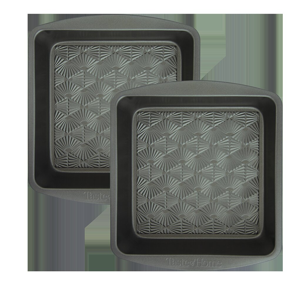Set of 2 Range Kleen Taste of Home 8-Inch Non-Stick Metal Square Baking Pan
